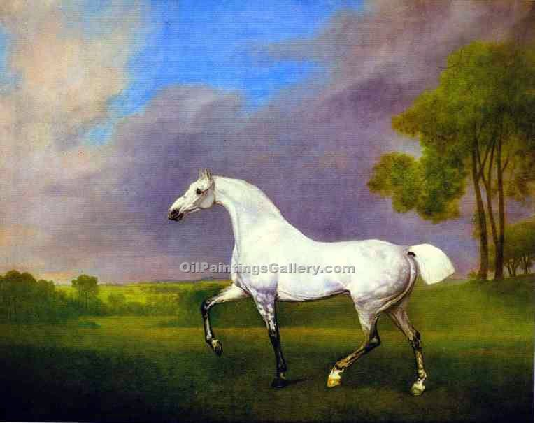 """Grey Horse"" by  George Stubbs"