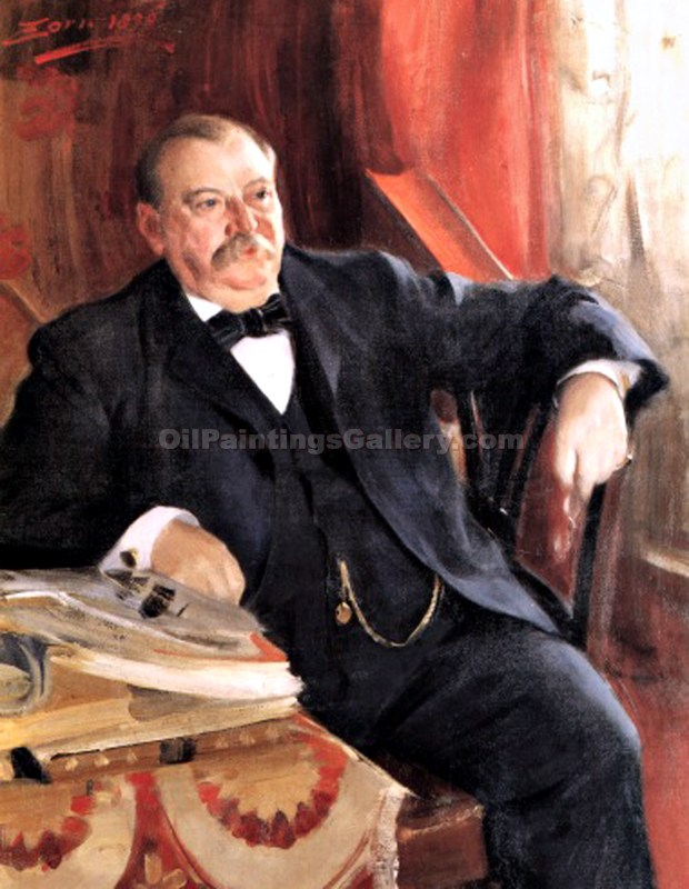 """Grover Cleveland, 22nd and 24th President, Painted by Anders Zorn"""