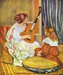 Guitar Lesson by  Pierre Auguste Renoir (Painting ID: CL-4431-KA)