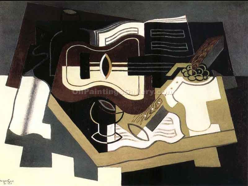 """Guitar and Clarinet"" by  Juan Gris"