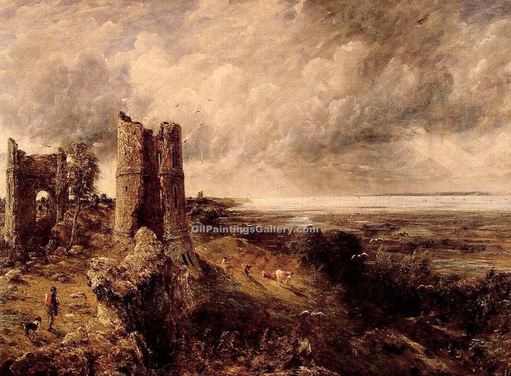 Buy Church, Ruin, Castle and Citadel Oil Paintings Online | Hadleigh Castle