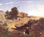 Hagar in the Wilderness by  Jean Baptiste Corot (Painting ID: CO-0882-KA)