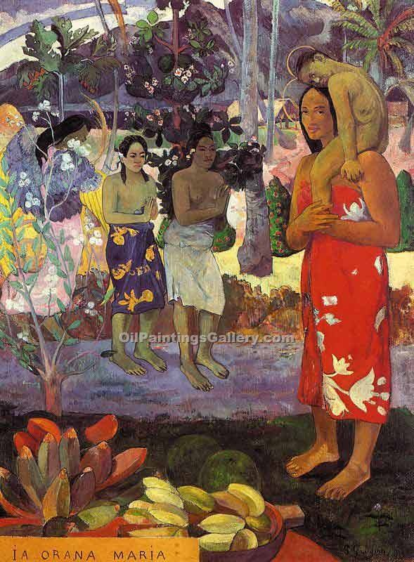 """Hail Mary, Orana Maria 34"" by  Paul Gauguin"