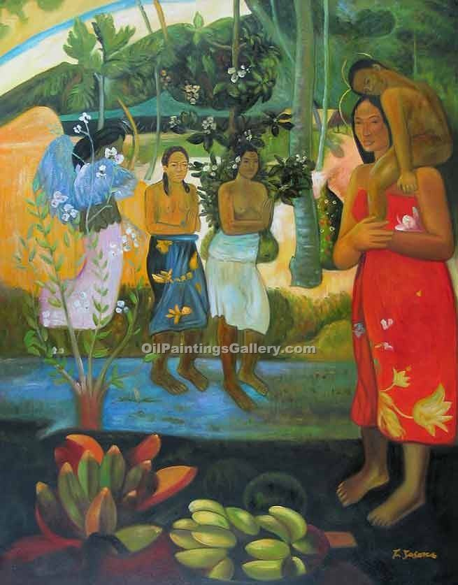 Hail Mary, Orana Maria 5 by Paul Gauguin | Best Online Art Gallery - Oil Paintings Gallery