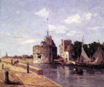 Harbour Tower, France by  Eugene Louis Boudin (Painting ID: LA-2392-KA)