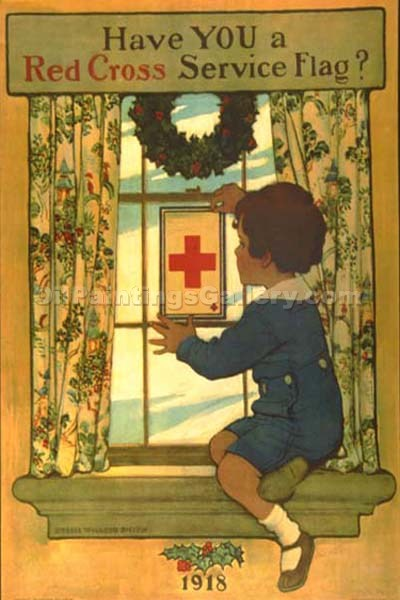 """Have You a Red Cross Service Flag"" by  Jessie Willcox Smith"