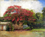 Hawaiian House by  Theodore Wores (Painting ID: LA-2866-KA)