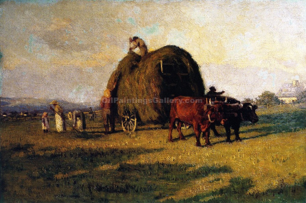 """Haying Near Quebec"" by  William Brymner"