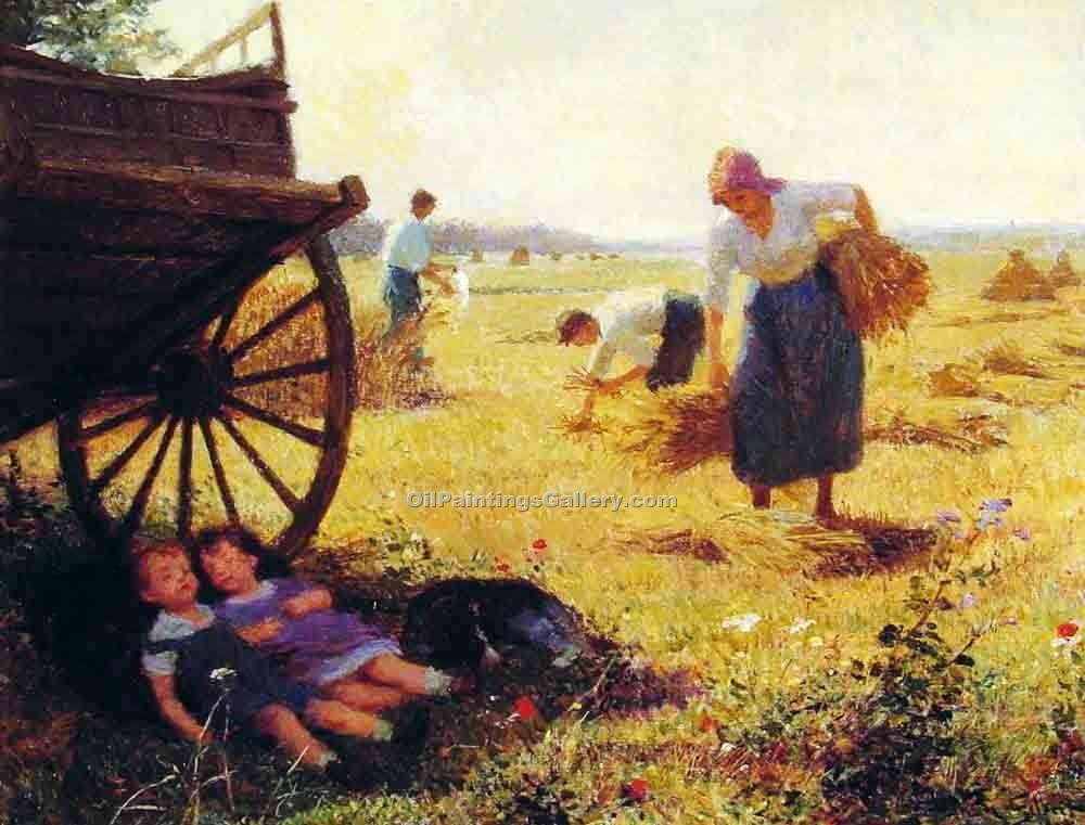 """Haymaking"" by  Victor Gabriel Gilbert"