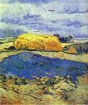 Haystack in Rainy Day by  Vincent Van Gogh (Painting ID: VG-0166-KA)
