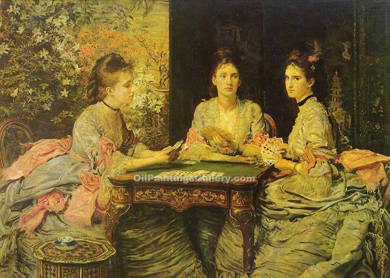 """Hearts are Trumps"" by  John Everett Millais"
