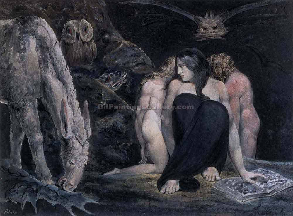 """Hecate or the Three Fates"" by  William Blake"
