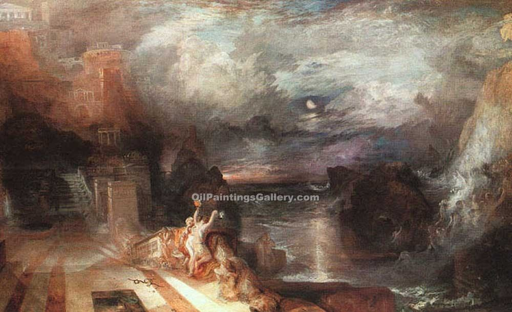 """Hero and Leander 20"" by  William Turner"