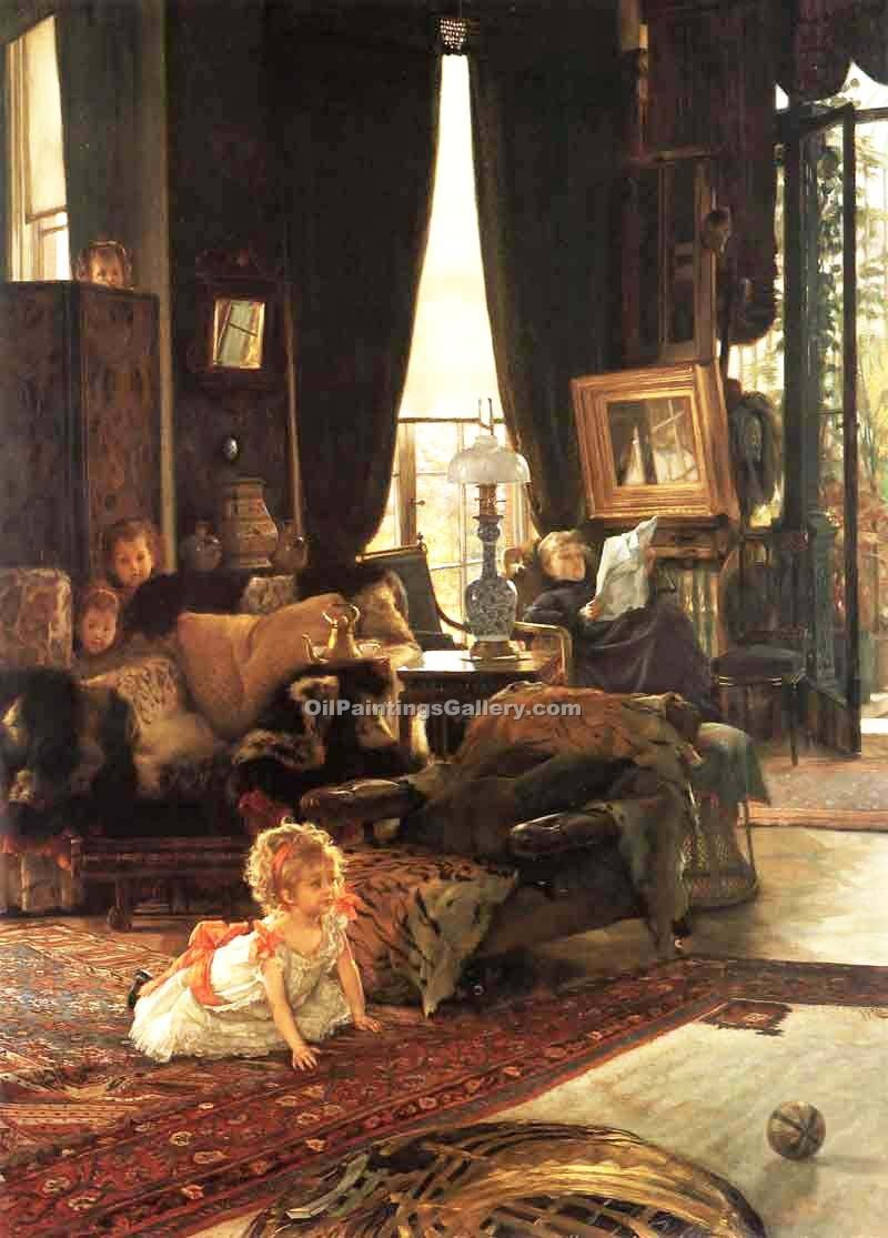 hide and seek by james tissot painting id cl 4284 ka. Black Bedroom Furniture Sets. Home Design Ideas