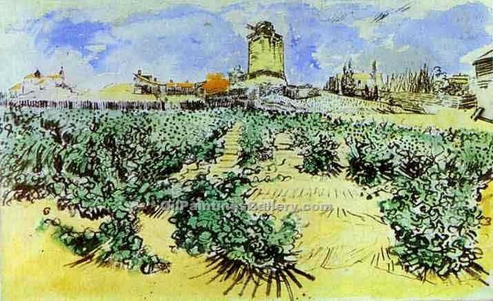 """High Hill"" by  Vincent Van Gogh"