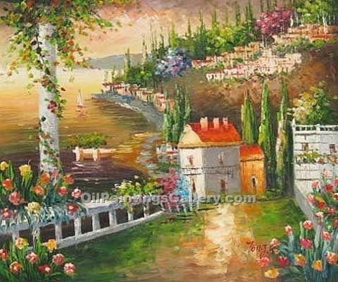 Buy Oil Painting Landscapes Online | Realism & Naturalism styles - Hillside Villas