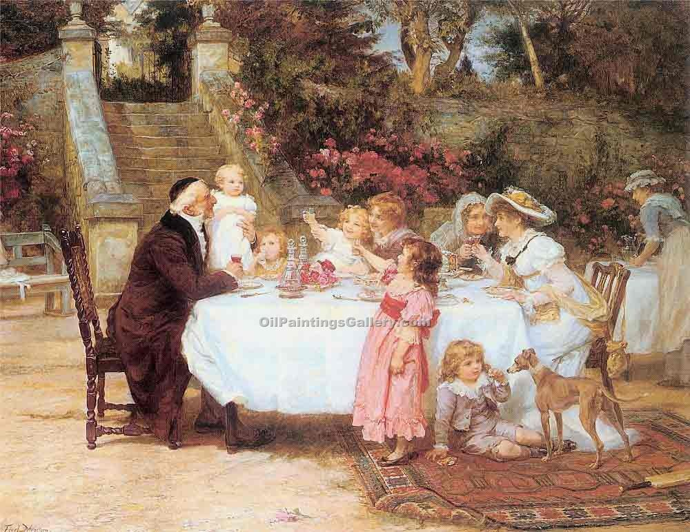 """His First Birthday"" by  Frederick Morgan"