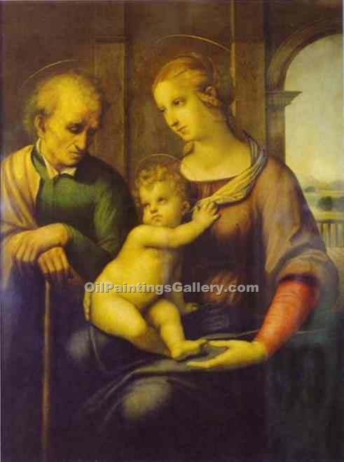 """Holy Family 26"" by  Sanzio Raphael"
