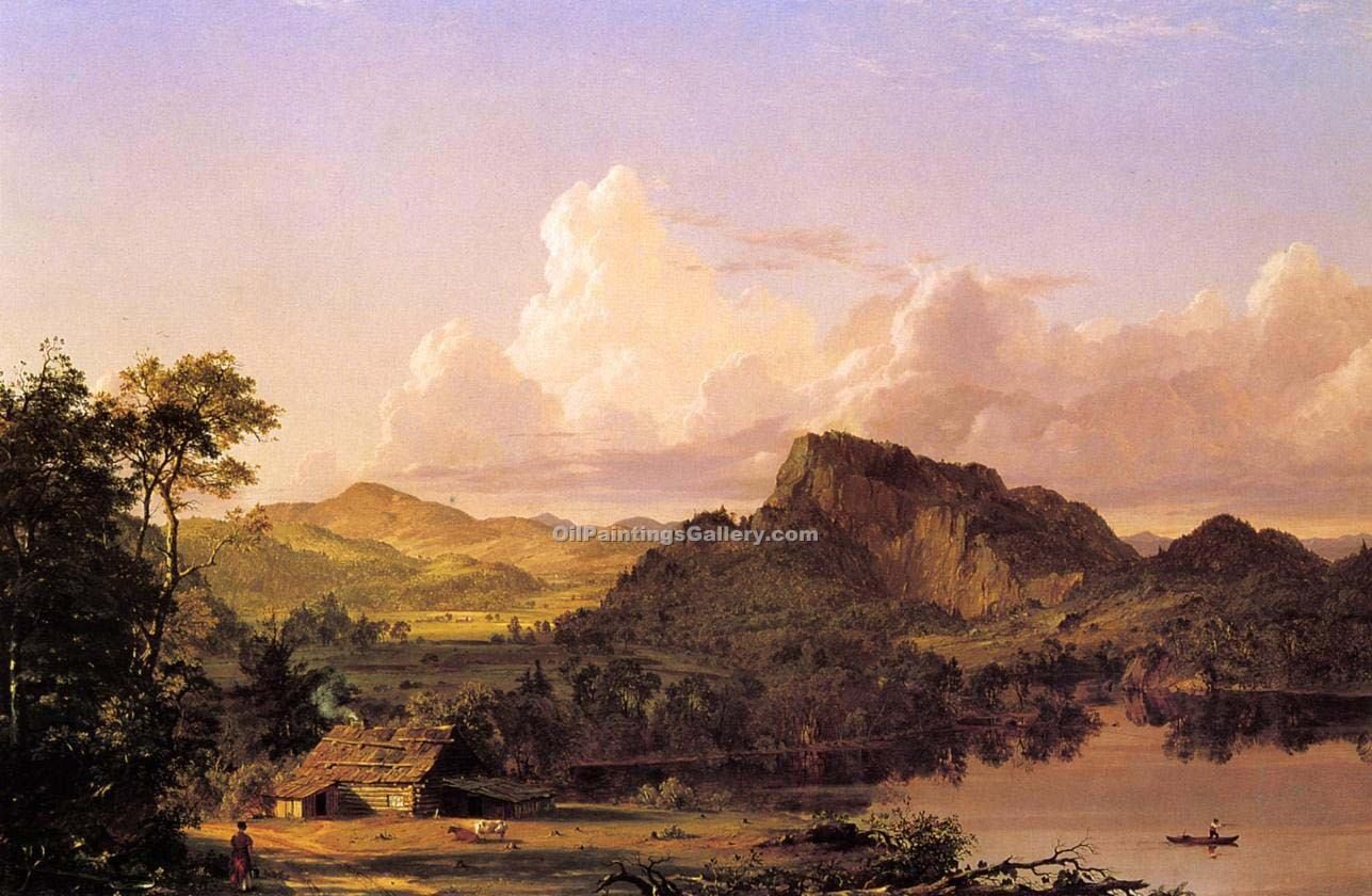 """Home by the Lake"" by  Frederic Edwin Church"