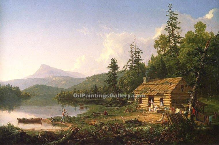 """Home in the Woods"" by  Thomas Cole"