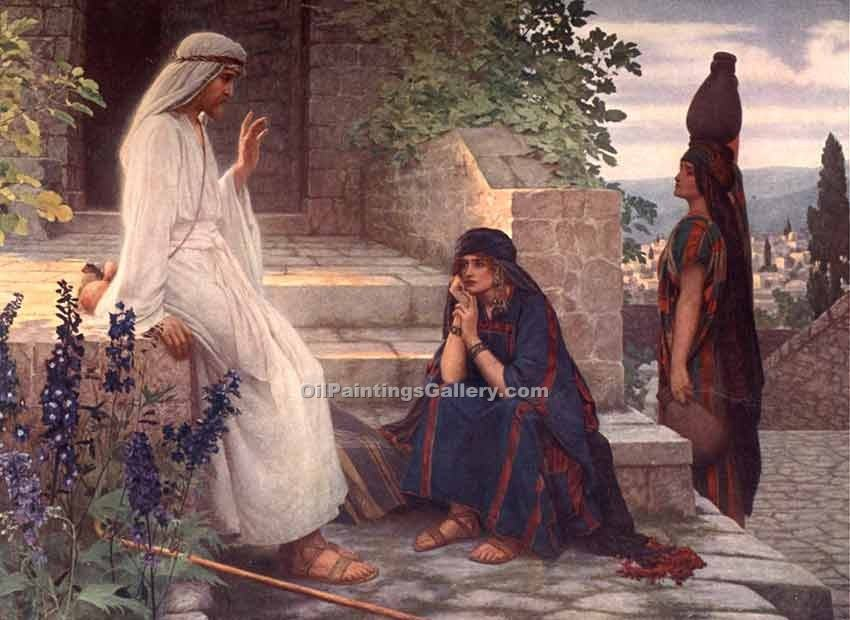 """Home of Bethany"" by  Herbert Gustave Schmalz"