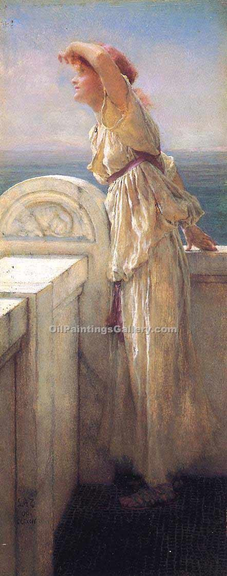 """Hopeful"" by  Sir Lawrence Alma Tadema"