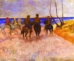 Horsemen on the Beach 32 by  Paul Gauguin (Painting ID: GA-0232-KA)