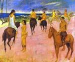 Horsemen on the Beach 34 by  Paul Gauguin (Painting ID: GA-0234-KA)