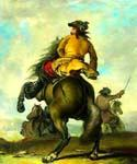 Horsemen Oil Painting (ID: CL-2825-A)