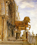 Horses of St. Mark in Venice by  Henry Roderick Newman (Painting ID: CI-0374-KA)