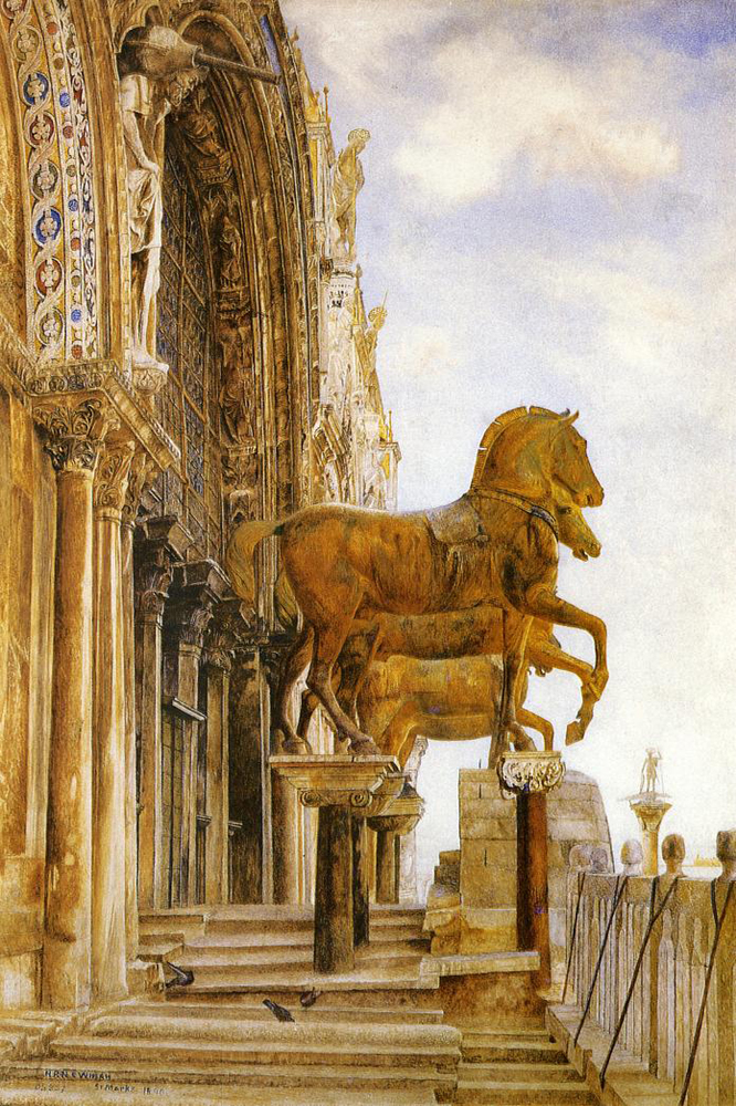 """Horses of St. Mark in Venice"" by  Henry Roderick Newman"