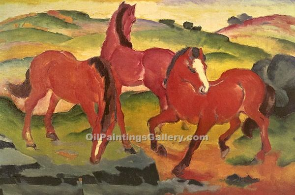 """Horses"" by  Franz Marc"