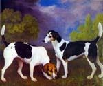 Hound and Bitch in a Landscape by  George Stubbs (Painting ID: AN-0385-KA)