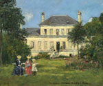 House and Garden of the Painter Braquaval by  Eugene Louis Boudin (Painting ID: LA-2396-KA)