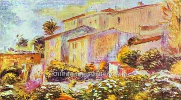 """House at Cagnes"" by  Pierre Auguste Renoir"