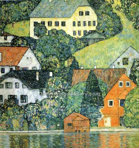 """Houses at Unterach on the Attersee"" by  Gustav Klimt"