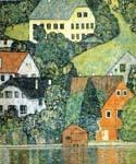 Houses at Unterach on the Attersee by  Gustav Klimt (Painting ID: KL-1020-KA)