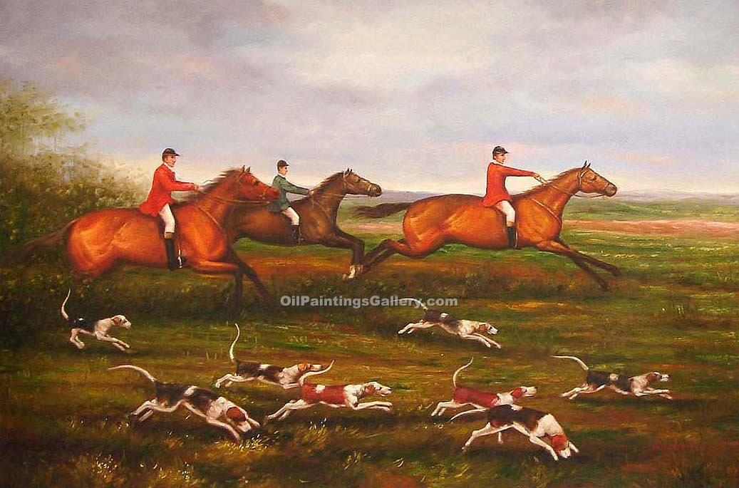 Buy Horse or Hunting Oil Painting Online | Realism & Naturalism styles - Hunt