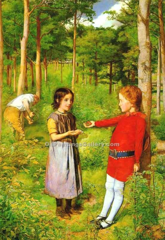 """Hunter s Daughter"" by  John Everett Millais"