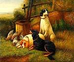 Hunting Dogs 93 Oil Painting (ID: AN-0393-B)