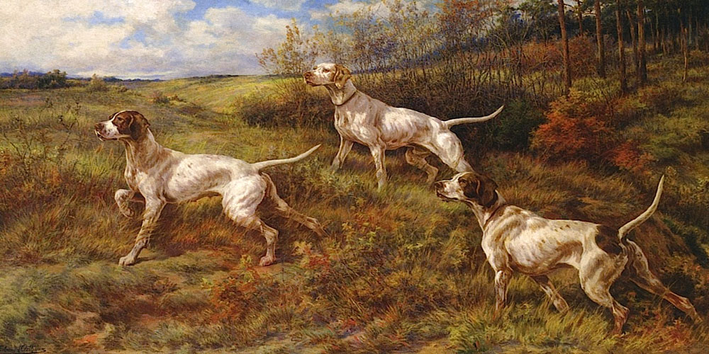 """Hunting in the Fall with Three Pointes"" by  Edmund H. Osthaus"