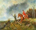 Hunting Oil Painting (ID: AN-2214-B)