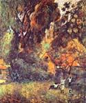 Huts under Trees by  Paul Gauguin (Painting ID: GA-0222-KA)