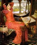 I am Half-Sick of Shadows, said the Lady of Shalott by  John William Waterhouse (Painting ID: CL-4235-KA)
