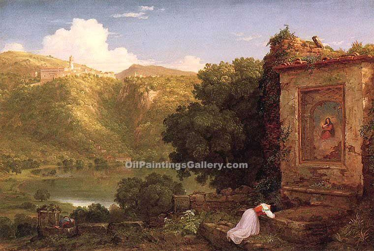 """II Penseroso"" by  Thomas Cole"