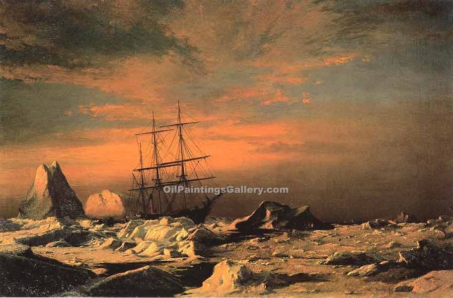 """Ice Dwellers Watching the Invaders"" by  William Bradford"