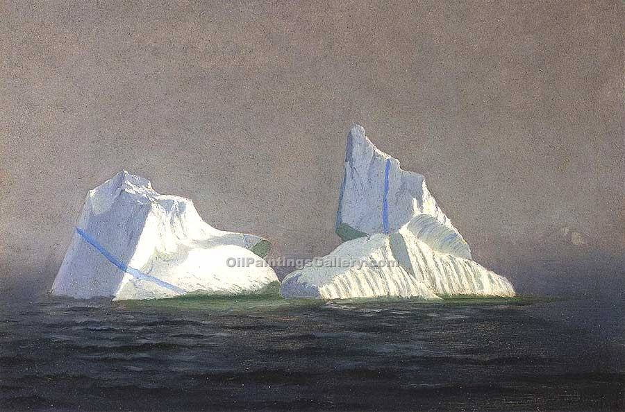 """Icebergs"" by  William Bradford"