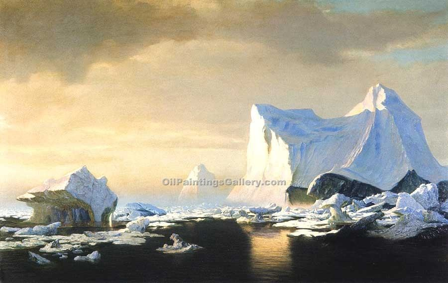 """Icebergs in the Arctic"" by  William Bradford"