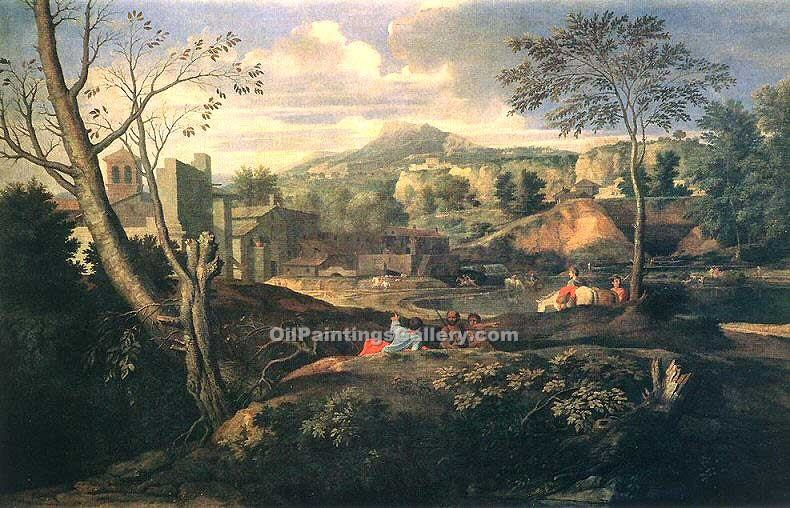 """Ideal Landscape"" by  Nicolas Poussin"