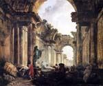 Imaginary View of the Grande Galerie by  Hubert Robert (Painting ID: CM-0872-KA)